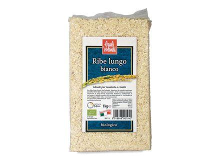 Riso ribe lungo bianco 1 kg BIO  (min. acquisto 10 pezzi)