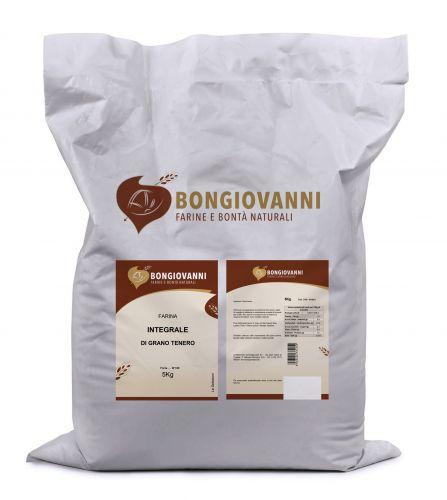 Farina di Grano Tenero Integrale (miscela crusca e farina) 5Kg