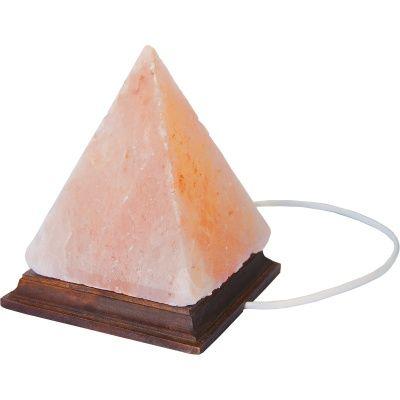 Lampada di sale rosa dell'himalaya piramidale 2 kg (base in legno) 2 kg (6 pezzi)