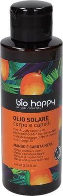 Olio solare corpo e capelli burro di mango e carota nera 100 ml BIO  (6 pezzi)