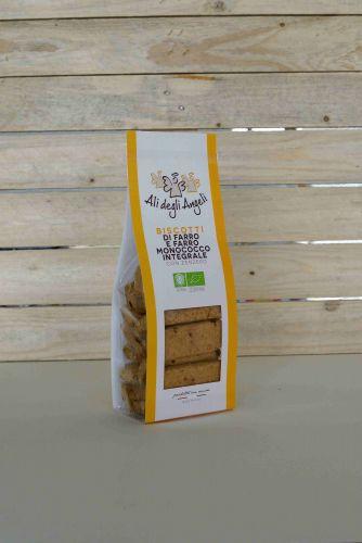 Biscotti di Farro e Farro Monococco con Zenzero 200g BIO
