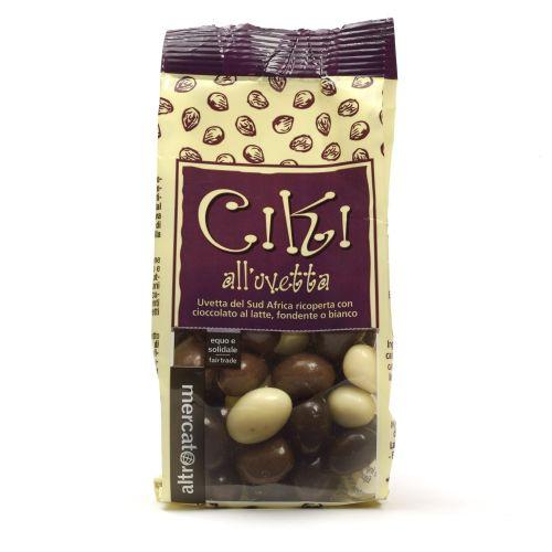 Ciki Dragees Di Uvetta Ricoperti Al Cioccolato 100 g (min. acquisto 10 pezzi)