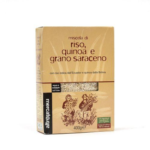 Mix Riso, Quinoa E grano Saraceno 400 g (min. acquisto 10 pezzi)