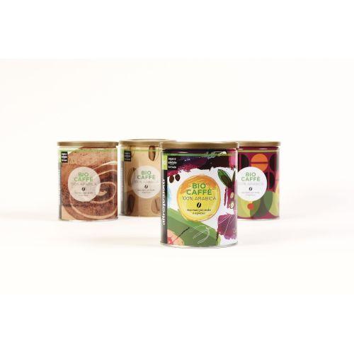 Caffè 100% Arabica Biocaffè Lattina BIO 250 g (6 pezzi)