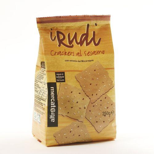 Crackers I Rudi Al Sesamo 250 g (min. acquisto 10 pezzi)
