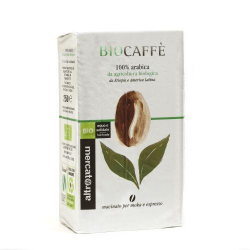 Caffè 100% Arabica Biocaffè Macinato BIO 250 g (min. acquisto 10 pezzi)