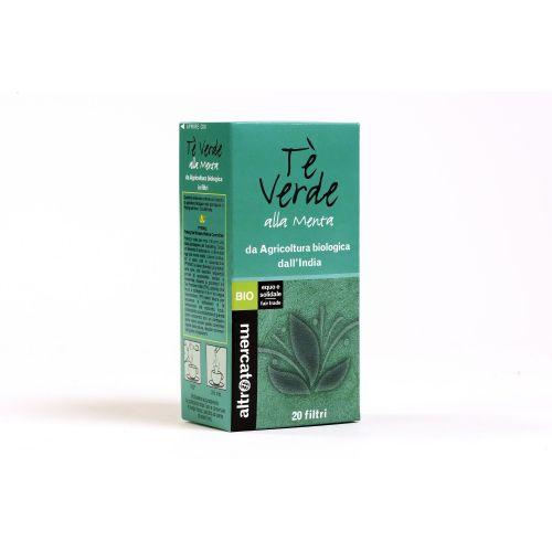 Tè Verde Alla Menta India In Filtri BIO 20 Filtri (min. acquisto 10 pezzi)