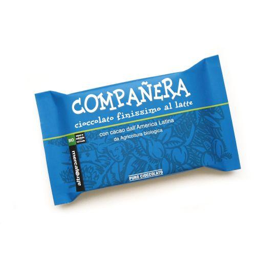 Cioccolato Companera Al Latte E Nocciole Intere Bio 100 g (min. acquisto 10 pezzi)