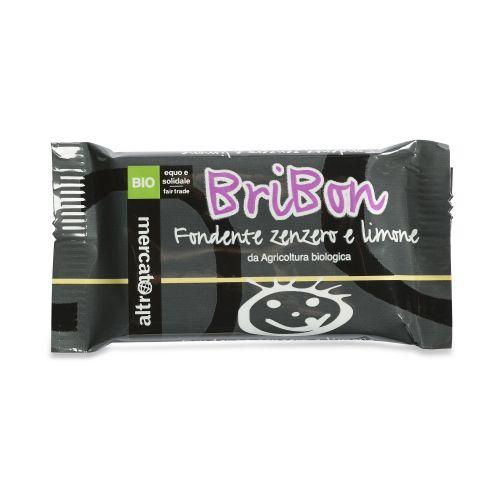 Cioccolato Snack Bribon Fondente, Limone E Zenzero BIO 30 g (min. acquisto 10 pezzi)