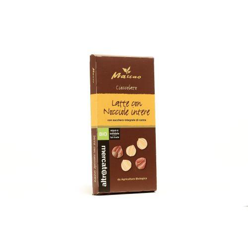Cioccolato Mascao Al Latte E Nocciole Intere BIO 100 g (min. acquisto 10 pezzi)
