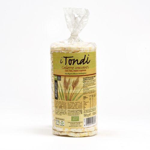gallette Croccanti I Tondi Al Mais BIO 150 g (min. acquisto 10 pezzi)