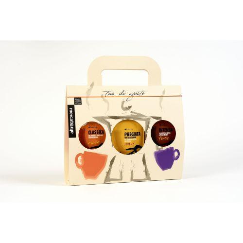 Caffè Tris Miscela Classica, Intensa, Pregiata Macinato Moka 3 X 250 g (min. acquisto 6 pezzi)