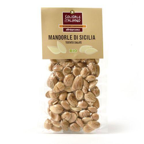 Mandorle Tostate E Salate Di Sicilia BIO 100 g (min. acquisto 10 pezzi)