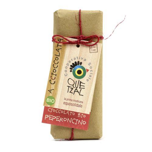 Cioccolato Modicano Al Peperoncino BIO 60 g (min. acquisto 10 pezzi)