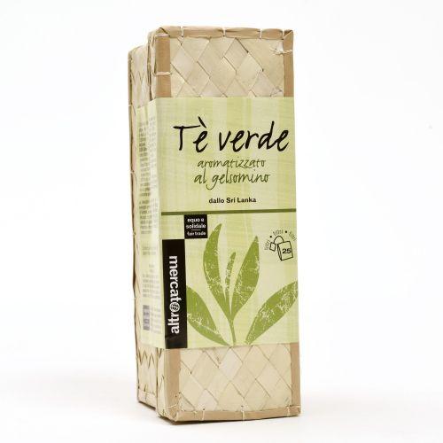 Tè Verde Al gelsomino Sri Lanka Cestino In Filtri 25 Filtri (min. acquisto 10 pezzi)