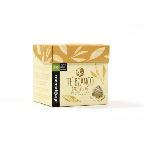 Tè Bianco Darjeeling In Filtri Piramidali BIO 20 Filtri (min. acquisto 10 pezzi)