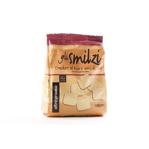 Cracker gli Smilzi Con Riso E Chia 200 g (min. acquisto 10 pezzi)