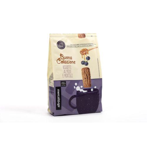 Biscotti Al Miele E Mirtilli 300 g (min. acquisto 10 pezzi)