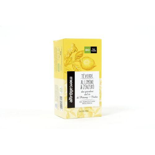 Tè Verde Limone E Zenzero India In Filtri BIO 20 Filtri (min. acquisto 10 pezzi)