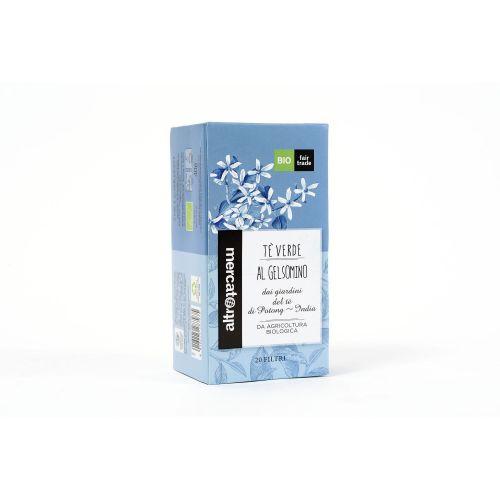 Tè Verde Al gelsomino India In Filtri BIO 20 Filtri (min. acquisto 10 pezzi)