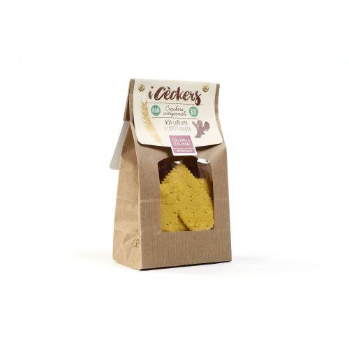 Crackers I Cèckers Con Curcuma BIO 200 g (min. acquisto 10 pezzi)