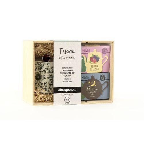 T Sana Confezione Regalo Con Tisane E Tazza 2X20 Filtri (min. acquisto 10 pezzi)