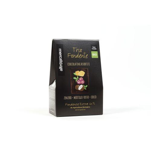 Cioccolatini Trio Fondente Assortiti BIO  (min. acquisto 10 pezzi)