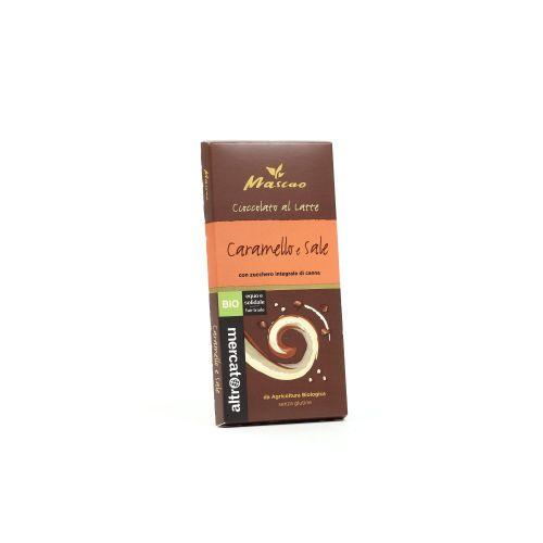 Cioccolato Mascao Al Latte Con Caramello E Sale BIO 22  (min. acquisto 10 pezzi)