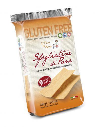 Sfogliatine Di Pane Senza Glutine - Uova - Latte 315g (9pz da 35g)