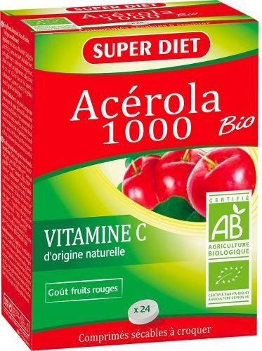 Acerola 1000 60 g BIO  (6 pezzi)
