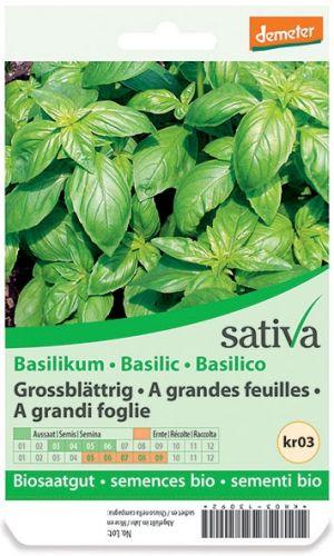 Basilico grandi foglie 1.25 g BIO  (min. acquisto 10 pezzi)