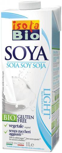 Bevanda di soia light 1 L BIO senza glutine  (min. acquisto 10 pezzi)