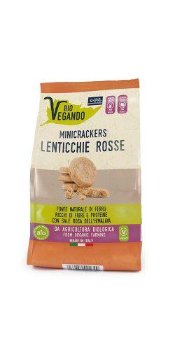 Biovegando MiniCrackers Lenticchie Rosse 150 g BIO