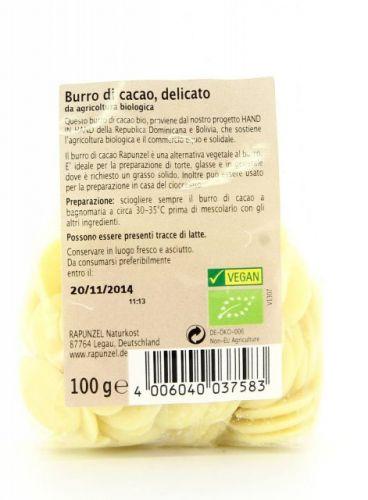 Burro di cacao delicato in gocce 100 g BIO