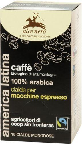 Caffè 100% arabica d'alta montagna cialde per macchina espresso 125 g BIO