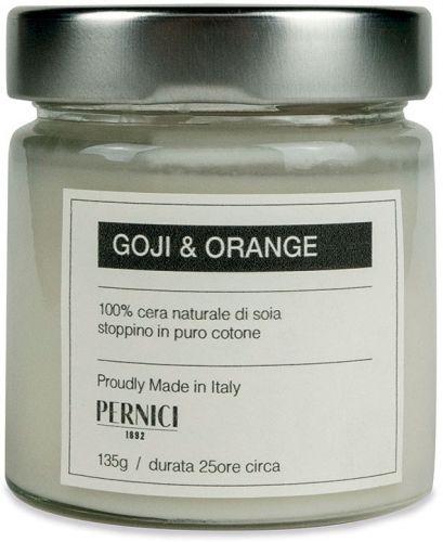 Candela profumata fragranza goji e arancia 135 g (6 pezzi)