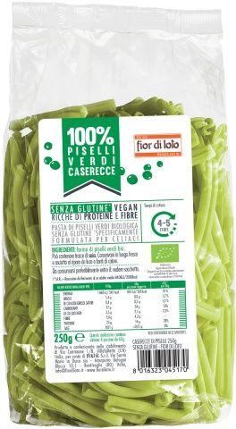 Caserecce di farina di piselli Zero% Glutine 250 g BIO