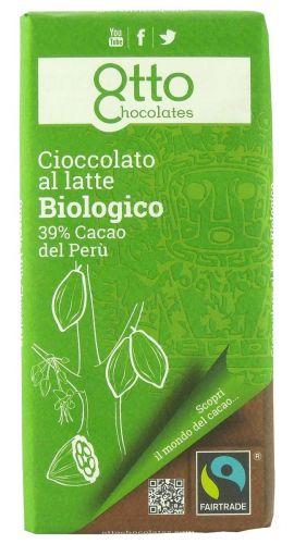 Cioccolato al latte 39% 100g BIO senza glutine