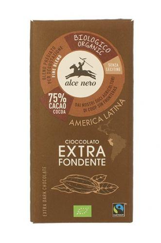 Cioccolato extrafondente 75% 100 g BIO