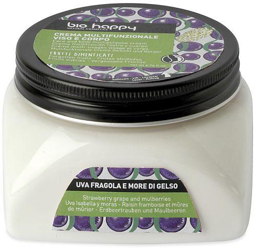 Crema multifunzionale viso e corpo uva fragola e more di gelso 200 ml BIO  (6 pezzi)