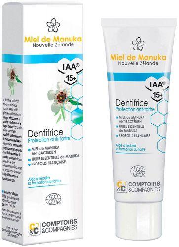 Dentifricio al miele di manuka iaa 15+ - protezione antiplacca 100 g BIO  (6 pezzi)