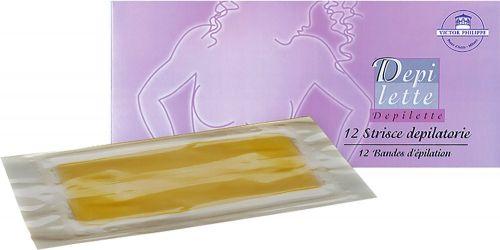 Depilette - strisce depilatorie precerate (12 strisce) 40 g (6 pezzi)