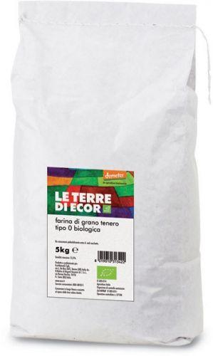 Farina di grano tenero tipo 0 5 kg BIO  (6 pezzi)