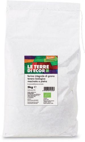 Farina integrale di grano tenero 5 kg BIO  (6 pezzi)