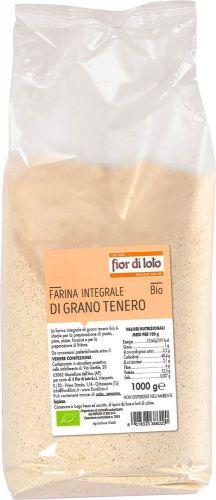 Farina integrale di grano tenero 1 kg BIO  (min. acquisto 10 pezzi)