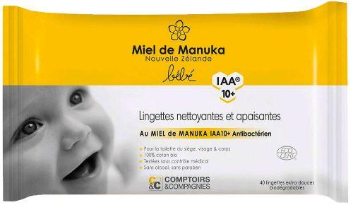 Fazzoletti umidificati baby - miele di manuka iaa 10+ 220 g BIO  (6 pezzi)
