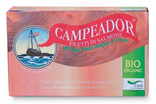 Filetti di salmone in olio extravergine di oliva 120 g BIO  (6 pezzi)