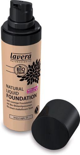 Fondotinta liquido - 01 ivory light 30 ml BIO  (6 pezzi)