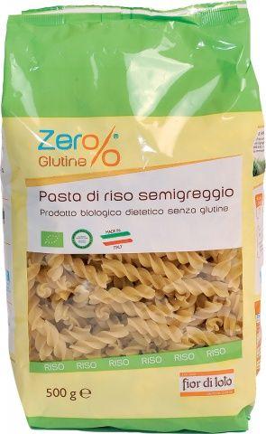 Fusilli di riso semigreggio Zero% Glutine Fior di Lot 500 g BIO (min. acquisto 10 pezzi)