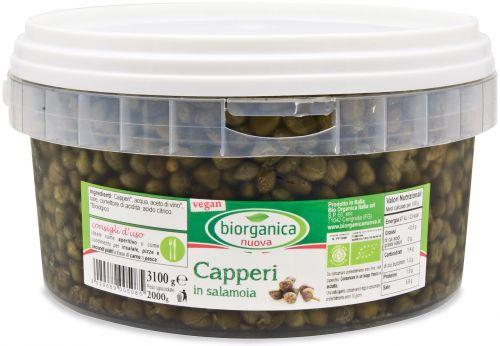 Gastronomia da banco - capperi in salamoia 3.1 kg BIO  (min. acquisto 6 pezzi)